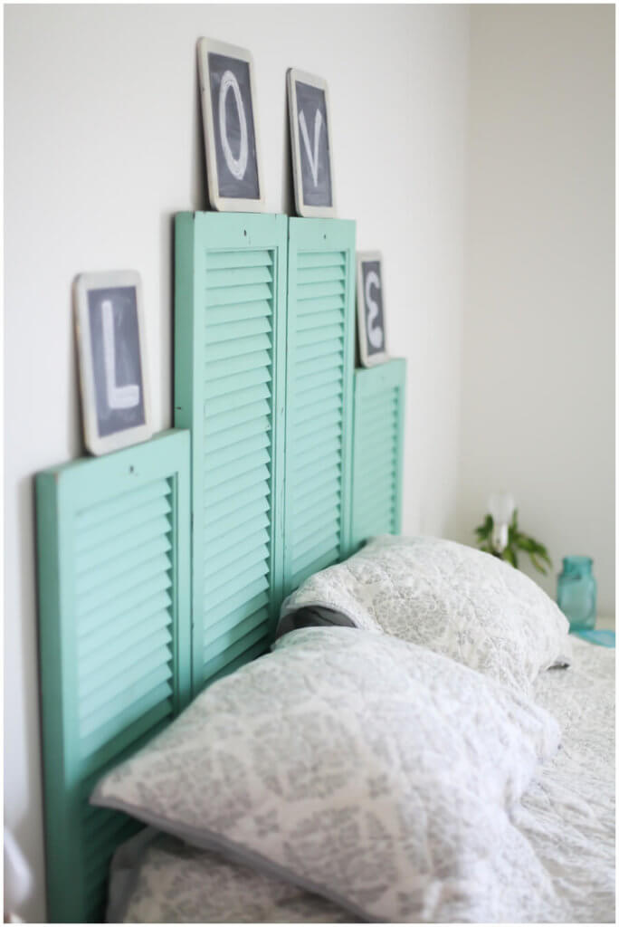 diy shutter head board