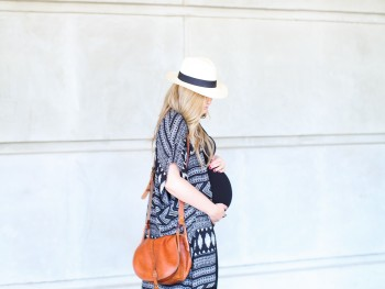 Pregnancy Style: A Long Fitted Tank Dress