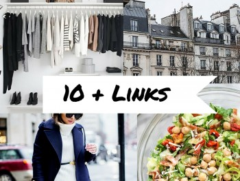 10 + Lovely Links: Roasted Veggie Cream Cheese Spread, Styling Your Shelves, Pretty Hair for 2016,  a Weekend in Paris